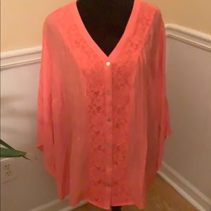 2 for $20 NWT Kim Rogers Coral Blouse